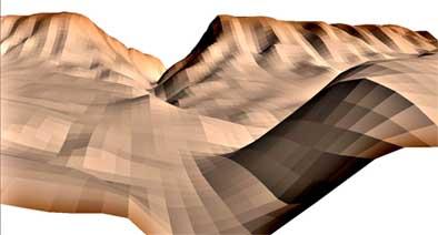 Vista 3D del Estrecho de Priego