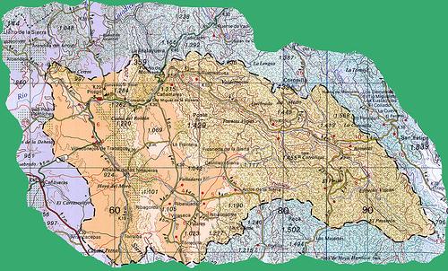 Mapa de la Cuenca del Río Escabas